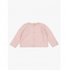 Gijocar6 Baby Girls Rose Cotton Mix Cardigan