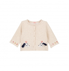 Gisancar1 Baby Girls Cream Fleece Cardigan