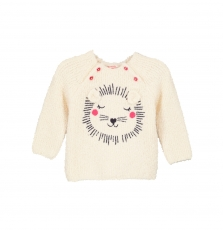 Gitripull Baby Girls Cream Jumper