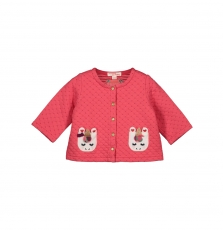 Givecar Baby Girls Pink Cotton Cardigan