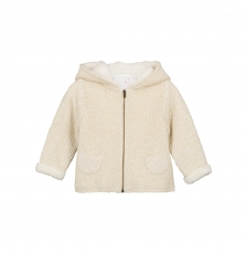 Giveves Baby Girls Cream Knitted Coat