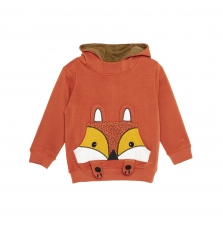 "Gobruswe Boys Rust ""fox"" Hooded Sweatshirt"