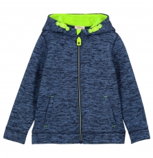 Gojogitek3 Boys Blue Fleece Zipped Hooded Sweatshirt
