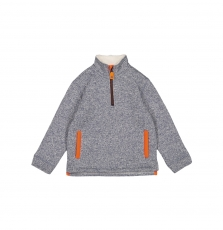 Gojopultek1 Boys Blue Grey Fleece Lined Half Zip