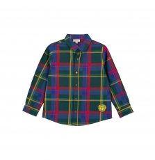 Gomuchem Boys Checked Cotton Shirt