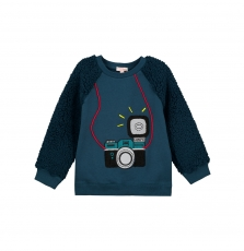Gotuswe Boys Navy Fleece Sweatshirt