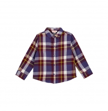 Goviochem Boys Checked Cotton Flannel Shirt