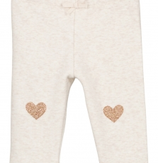 Gijopandou1 Baby Girls Cream Fleece Leggings