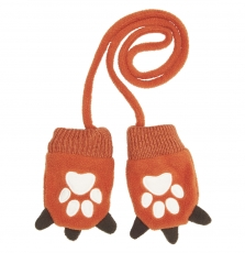 Gyubrugan Baby Boys Orange Polar Fleece Gloves