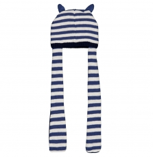 Gyutribon Baby Boys Striped Hat With Scarf