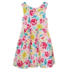Jaborob1 Girls Printed Lined Cotton Dress
