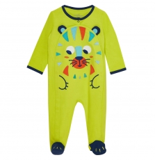 "Jegagretig Baby Boys Yellow Front Opening ""Tiger"" Sleepsuit"