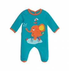 Jegagrevoi Baby Boys Duck Blue French Terry Sleepsuit