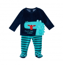 "Jegapyjcro Baby Boys ""crocodile"" Velour Pyjamas"