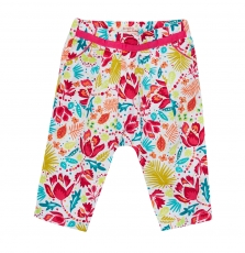 Jibopan Baby Girls Printed Cotton Trousers