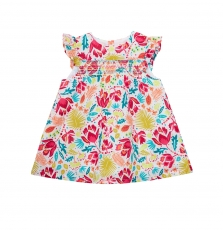 Jiborob2 Baby Girls Printed Lined Cotton Dress
