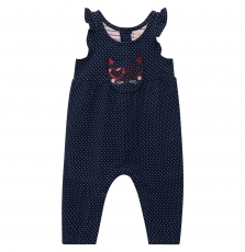 Jigrasal Baby Girls Lined Navy Dungarees