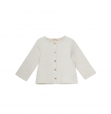 Jijocar1 Baby Girls Cream Quilted Cardigan