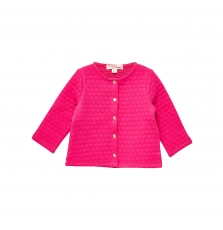 Jijocar2 Baby Girls Deep Pink Quilted Cardigan