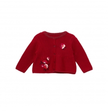 Jivicar Baby Girls Embroidered Cotton Cardigan