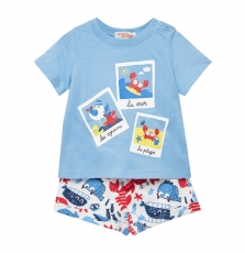 Juceaens Baby Boys Printed T-shirt and Short Set