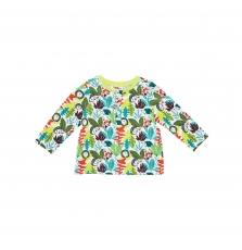 Juclotee1 Baby Boys Printed Button Top T-shirt