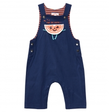 Juvisal Baby Boys Lined Blue Dungarees