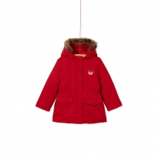 Kabriparka Girls Red Hooded winter Coats