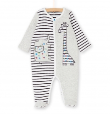 Kegagreray Baby Boys Printed Button Front Padded Jersey Sleepsuit