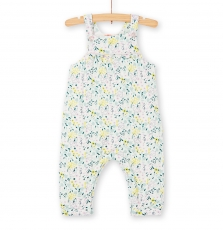 Kibocomb Baby Girls Double Layer Cotton Jersey Dungarees