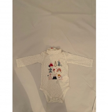 Kilubod2 Baby Girls Cotton Polo Neck Bodysuit
