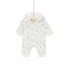 Kou1com Newborn Quilted Hooded Jersey All In One