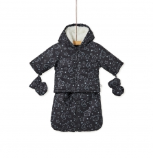 Kou1pil Newborn Hooded Baby All In One Snow Suit