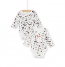 Kou2bod2 Newborn Baby Girls 2 Pack Cotton Bodysuits
