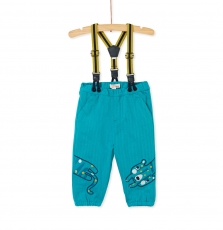 Kubripan1 Baby Boys Herringbone Trousers With Braces
