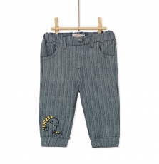 Kurepan2 Baby Boys Self Striped Cotton Trousers
