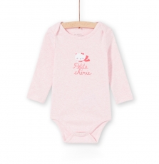 Lefibodcou Baby Girls Printed Rose Cotton Bodysuit