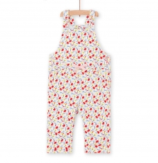 Licansal Baby Girls Lined Printed Cotton Dungarees