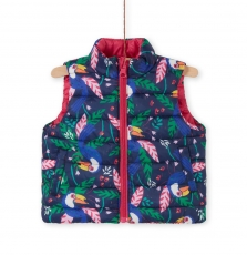 Lifoudounex Baby Girls Reversible Sleeveless Coat