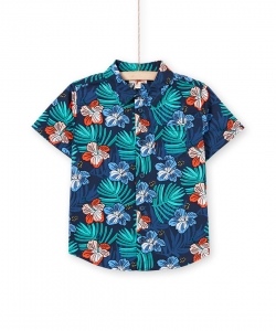 Lobonshirt Boys Patterned Cotton Shirt