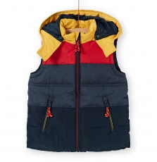 Logrodou2 Boys Sleeveless Hooded Jacket