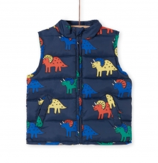 Logroimp1ex Boys Printed Sleeveless Jacket