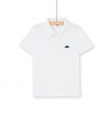 Lojopol4 Boys Basic White Cotton Polo Shirt