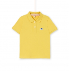 Lojopol5 Boys Basic Yellow Cotton Polo Shirt