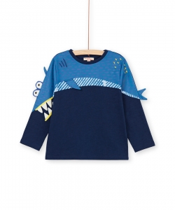 "Lonautee2 Boys Blue ""Shark"" Cotton T-shirt"