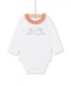 Lou1bod4 Newborn Baby Girls Printed Cotton Bodysuit