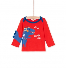 "Lucantee1 Baby Boys Red Cotton ""Monster"" T-shirt"
