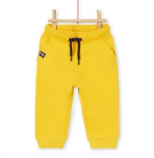 Lujopan1 Baby Boys Yellow Cotton Pique Trousers