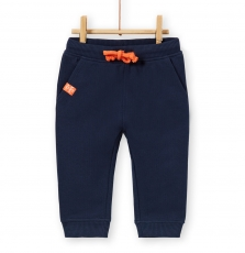 Lujopan2 Baby Boys Navy Cotton Pique Trousers