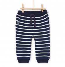 Lujopan3 Baby Boys Striped Cotton Pique Trousers
